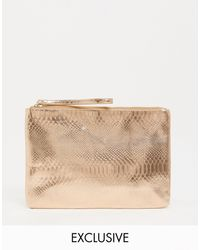 South Beach Exclusive Snake Embossed Clutch - Multicolor