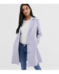 ASOS Manteau en crpe - Bleu