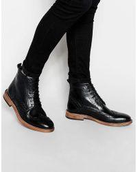 KG by Kurt Geiger Kg By Kurt Geiger Brogue Boots - Black