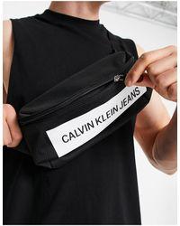 Calvin Klein Черная Сумка-кошелек На Пояс Со Вставкой С Логотипом -черный Цвет