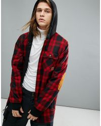 DC Shoes - Snow Backwoods Checked Jacket With Insulated Flannel - Lyst