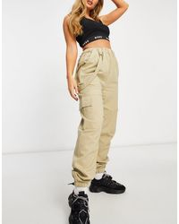 Missguided Pantalones cargo beis - Neutro