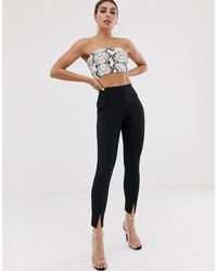 Missguided Cigarette Trousers - Black