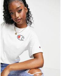 Champion T-shirt bianca oversize - Bianco