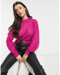 Native Youth Oversized Jumper - Pink