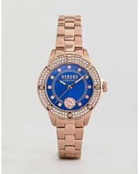 Versus - South Horizons S2905 Crystal Bracelet Watch In Rose Gold 33mm - Lyst