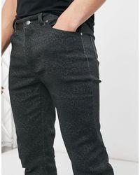 Wesc Leopard Camo Alessandro Skinny Fit Denim Jeans - Black