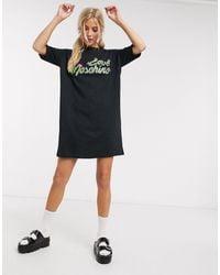 Love Moschino - Cactus Logo T-shirt Dress - Lyst