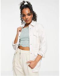 Abercrombie & Fitch Veste chemise fonctionnelle - Crème - Blanc