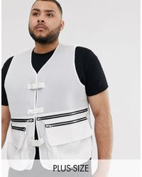 Jaded London Mesh Utility Vest - White