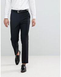 French Connection Pantalones de esmoquin y corte slim - Negro