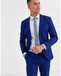 Jack & Jones Зауженный Эластичный Пиджак Из Хлопковой Ткани Premium-синий