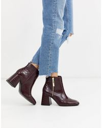 Stradivarius Zip Side Heeled Boots - Multicolour