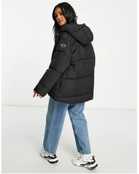 Replay Hooded Puffer Jacket - Black