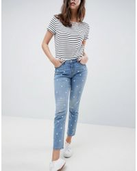 Esprit - Daisy Embroidered Jean - Lyst