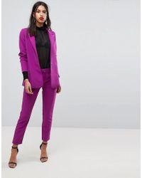 Y.A.S Bright Tailored Cigarette Trousers - Purple
