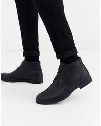 Jack & Jones Desert Boots Van Imitatieleer - Zwart
