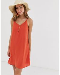 Pimkie Cami Dress With Button Front - Red