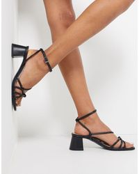 & Other Stories Strappy Leather Heeled Sandals - Black