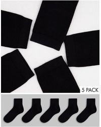 Monki Набор Из 5 Пар Черных Носков Из Органического Хлопка Polly-черный Цвет