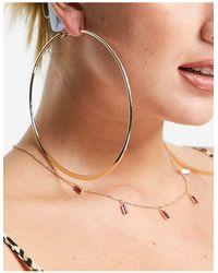 ASOS 110mm Extra Large Hoop Earrings - Multicolour