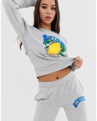 Juicy Couture Juicy By Juicy Lemon Logo Jumper - Gray