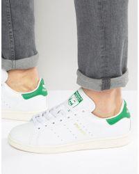 Lyst adidas Originals Stan Smith zapatillas en blanco cq2195 en blanco