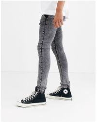 ASOS Spray On Jeans Met Powerstretch - Grijs