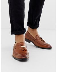 ASOS Brogue Loafers - Brown