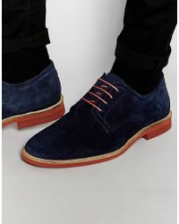 Red Tape - Derby Shoes In Navy Suede - Blue - Lyst