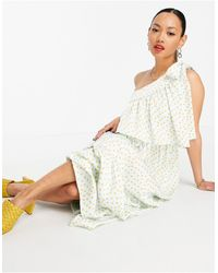 Y.A.S Разноцветное Платье Макси На Одно Плечо С Принтом -многоцветный