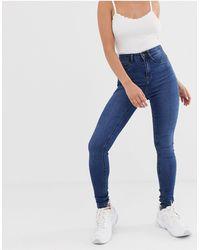 Noisy May - Callie High Waist Skinny Jeans - Lyst