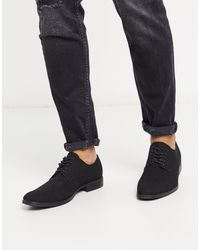 Jack & Jones Faux Suede Derby Shoe - Black