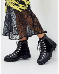 Grenson Nanette Leather Hiker Boot - Black