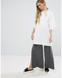 House Of Sunny - Wide Leg Popper Pant - Lyst