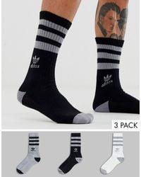 Socks 3 Pack Multi Multicolor
