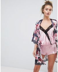 Boux Avenue - Spring Floral Print Kimono Robe - Lyst