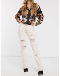 Blank NYC Ditz Distressed Boyfriend Jeans-white
