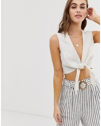 Faithfull The Brand - Faithfull Marcie Tie Front Crop Top - Lyst