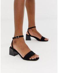 30f15b42404dfe Lyst - ASOS Flightplan Leather Flat Sandals in Black