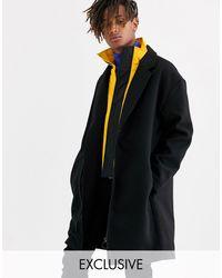 Collusion Hybrid Overcoat - Black