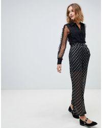Vero Moda Metallic Spot Trousers - Black
