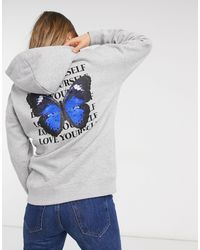New Look Butterfly Logo Hoodie - Black