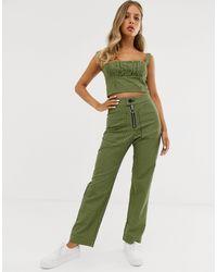 Capulet Keeley High Waisted Check Pants - Green