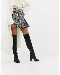 New Look Pull On Block Heel Boot - Black