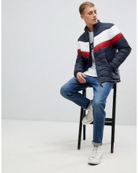 Esprit - Puffer Jacket With Retro Chest Stripe - Lyst
