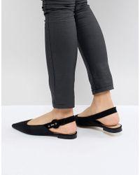 Mango | Sling Back Point Flat Shoe | Lyst
