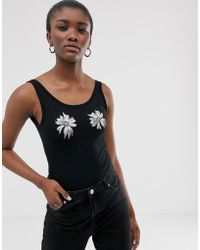 Cheap Monday Roses Are Dread Bodysuit With Recycled Polyester - Black