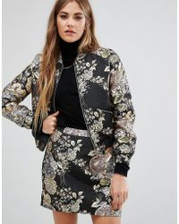 Fashion Union - Metallic Embroidered Jacket Co-ord - Lyst