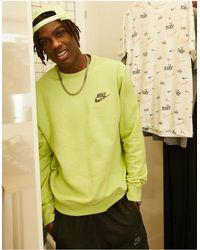 Nike Sudadera color lima jaspeado revival - Amarillo